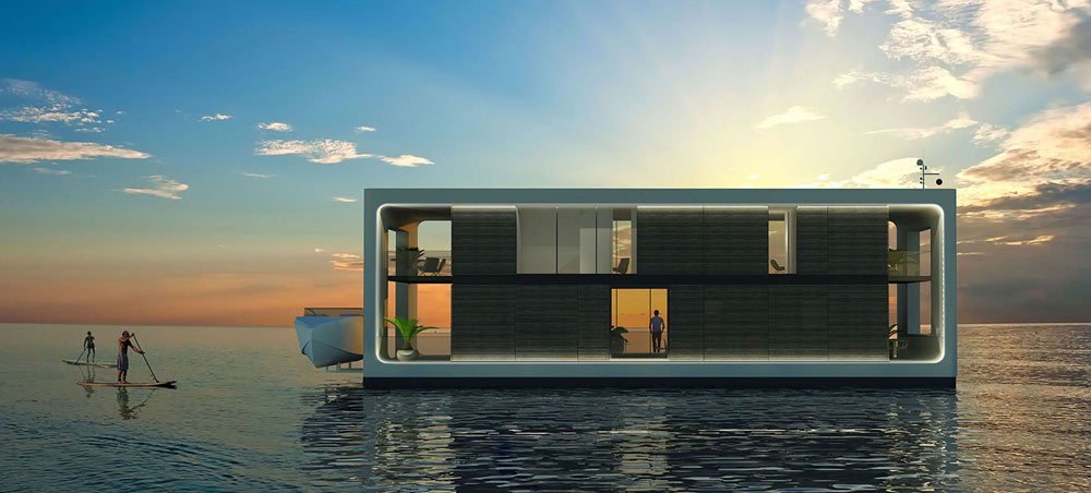 enjoy paddle boarding in the open sea with your house boat